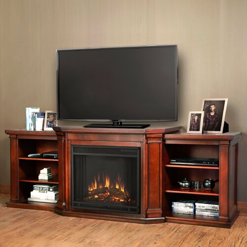valmont 75 5 tv stand with electric fireplace reviews wayfair
