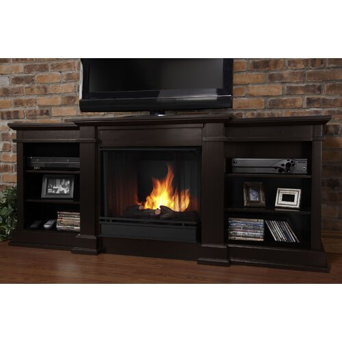 "Real Flame Fresno 72"" TV Stand with Gel Fuel Fireplace"