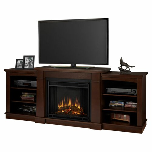 real flame hawthorne 75 tv stand with electric fireplace