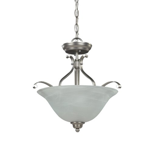 Michael 3 Light Dual Mount Chandelier