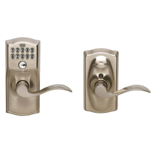 Schlage Camelot Accent Entry Lever Keypad Lock