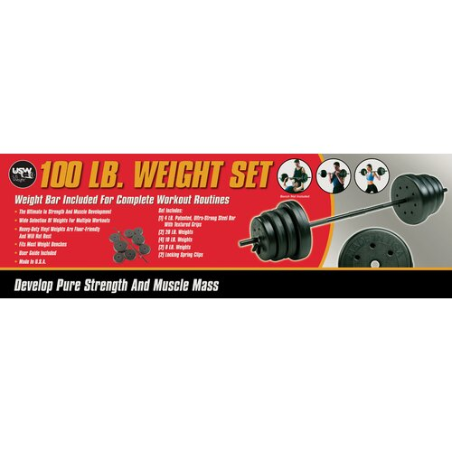 US Weight 100 lb. Traditional Weight Set