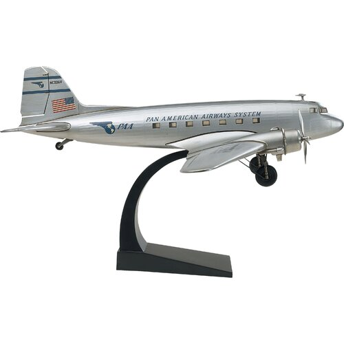 Silver Miniature Airplane Sculpture