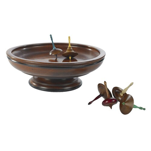 Authentic Models Spinning Tops and Board in Honey