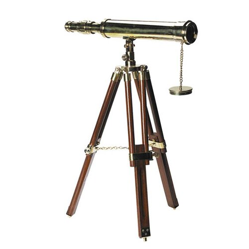 Authentic Models Decorative Telescope with Table Stand
