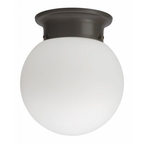 Lithonia Lighting Globe 1 Light 13W Flush Mount