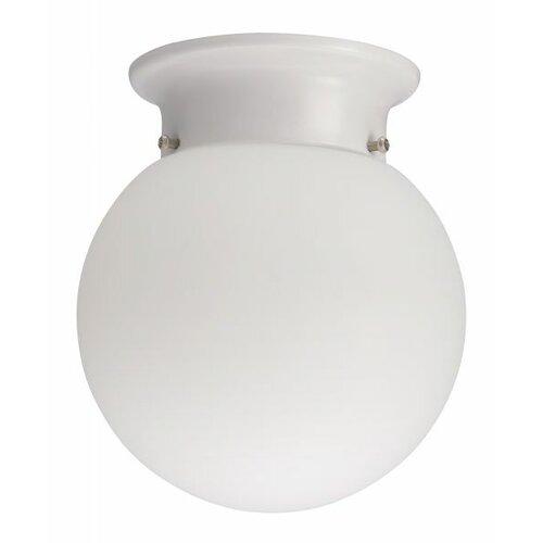 "Lithonia Lighting Globe 6"" 1 Light Flush Mount"