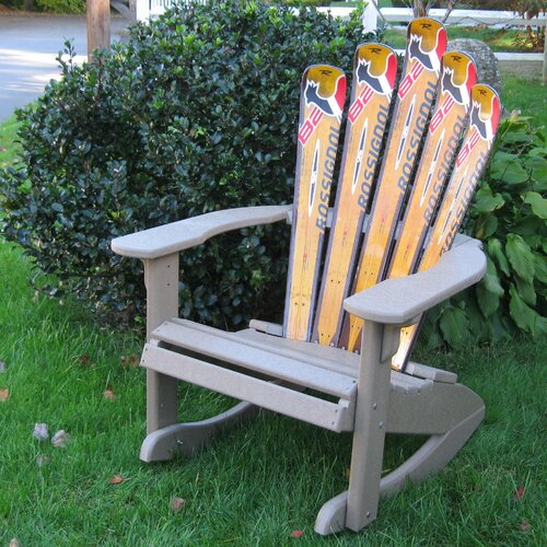 Ski Chair Ski Adirondack Rocker