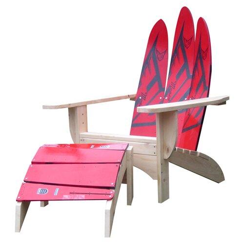 Water Ski Adirondack Chair And Ottoman Wayfair