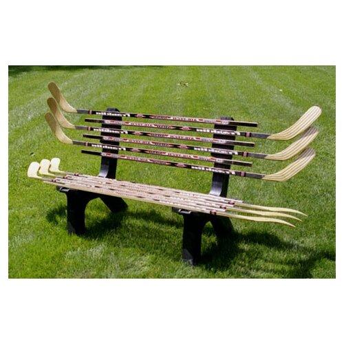Hockey Stick Coat Racks: Hockey Stick Recycled Plastic Garden Bench
