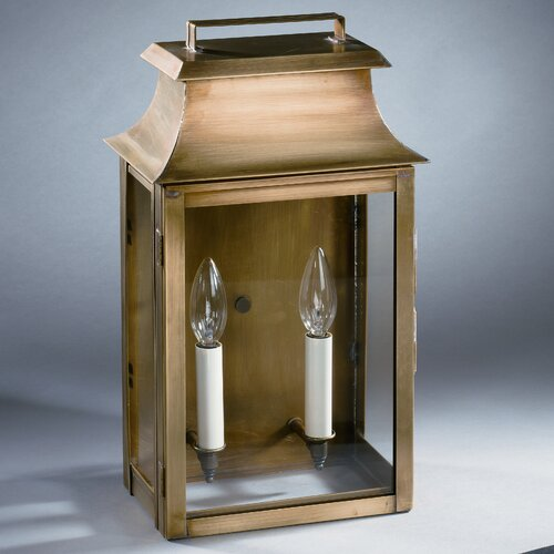 Northeast Lantern Concord Medium Base Sockets with Chimney Pagoda Wall Lantern