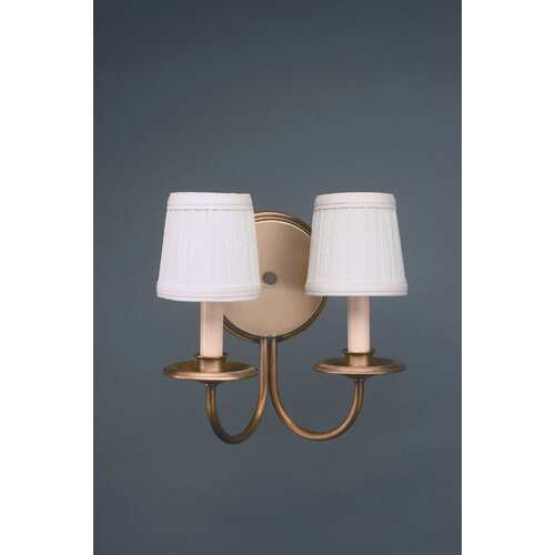 Northeast Lantern 2 Light Candelabra Socket  Wall Sconce with Shade