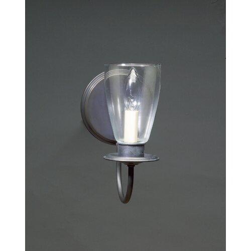 Northeast Lantern 1 Light Candelabra Socket Round Back Plate Sconce with Shade
