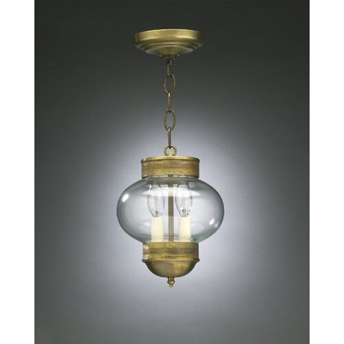 Northeast Lantern Onion Candelabra Sockets No Cage 2 Light Hanging Lantern