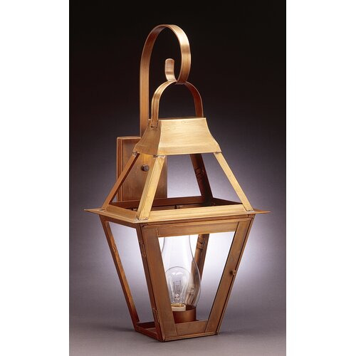 Northeast Lantern Uxbridge Medium Base Sockets with Chimney Bracket Wall Lantern