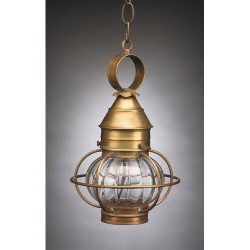 Northeast Lantern Onion 13' Medium Base Socket Caged Pendant