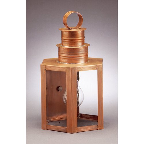 Northeast Lantern Hardwick Medium Base Socket Small Hexagon Wall Lantern