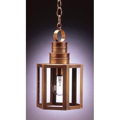Northeast Lantern Hardwick Medium Base Socket Small Hexagon 1 Light Hanging Lantern