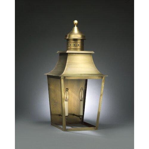 Northeast Lantern Sharon 2 Candelabra Sockets Pagoda Wall Lantern