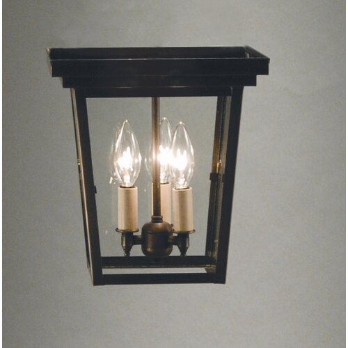 "Northeast Lantern Williams 17"" 3 Light Flush Mount"