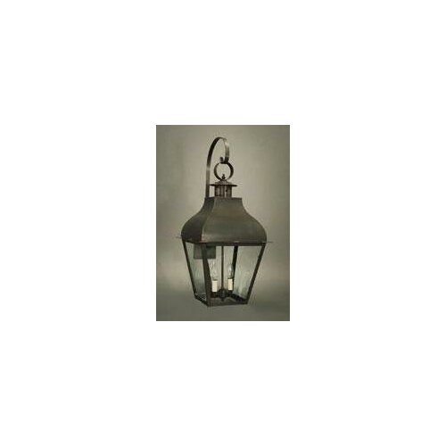 Northeast Lantern Stanfield 2 Candelabra Sockets Curved Top with Top Scroll Wall Lantern