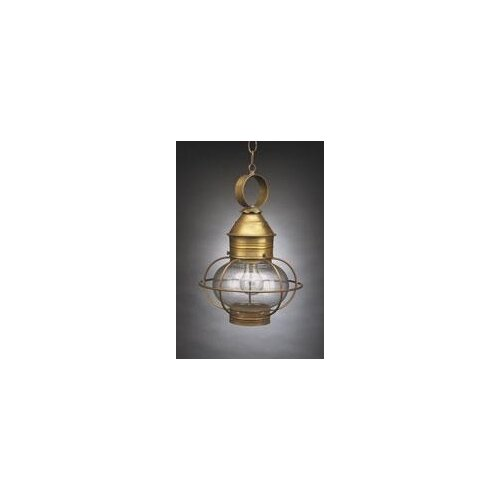 Northeast Lantern Onion Medium Base Socket Cage 1 Light Hanging Lantern With Galley