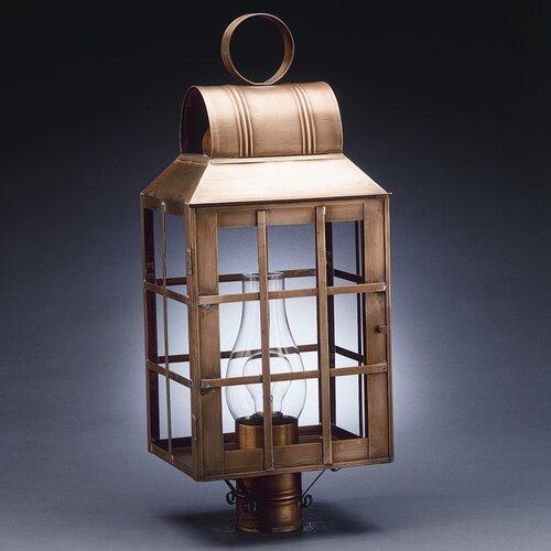Northeast Lantern Lynn 1 Light Chimney Culvert Top H-Bars Post Lantern