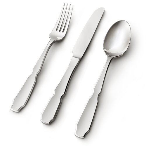 Argent 45 Piece Pinched Flatware Set