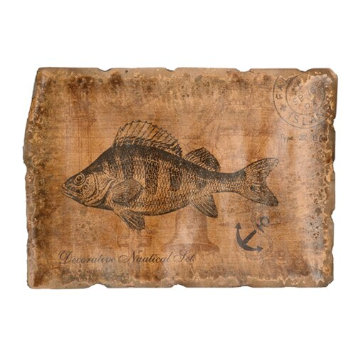 Leather Fish Study Left Facing Graphic Art