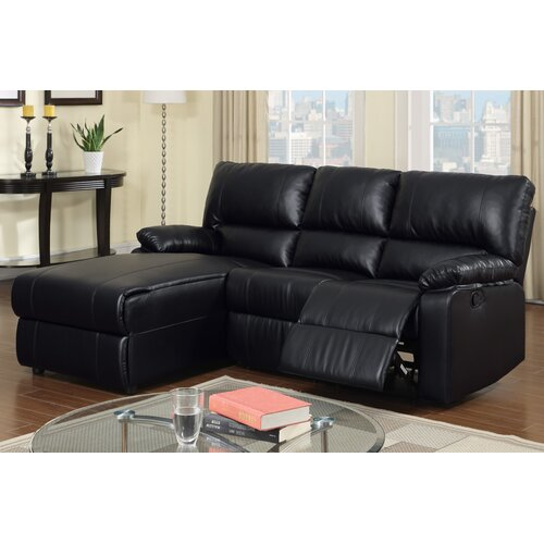 Bobkona Loveseat Recliner Left Chaise