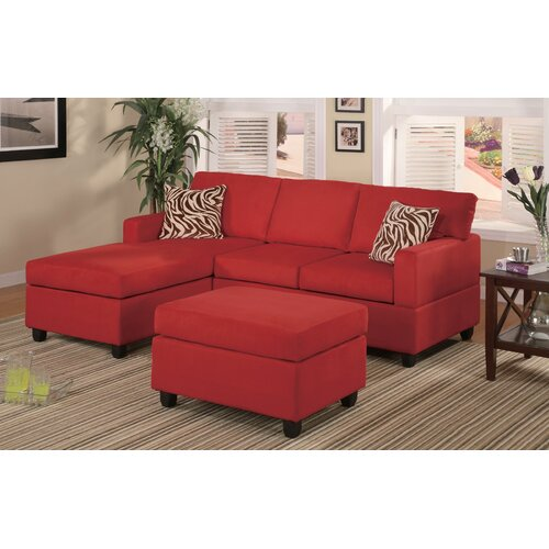 Poundex Bobkona Modular 3 Piece Sectional