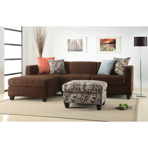 Poundex Simplistic Sectional