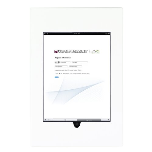 Premier Mounts Aluminum Cast iPad Wall Frame Mount