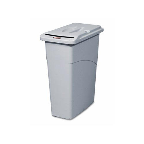 Rubbermaid Commercial Products 23-Gal. Slim Jim Confidential Document Rectangle Receptacle with Lid
