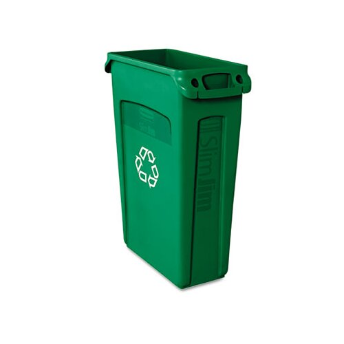 Rubbermaid Commercial Products Slim Jim Recycling Container with Venting Channels