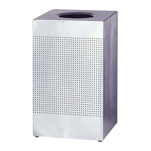"Rubbermaid Commercial Products Hinged Top Receptacle, 16 Gal., 14-3/4""x14-3/4""x30"", Steel"