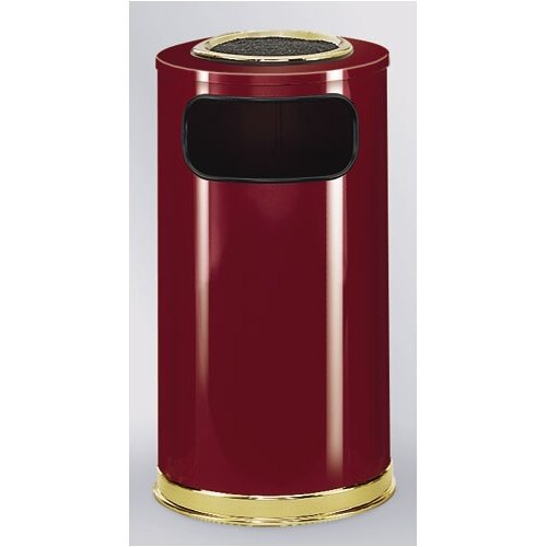 Rubbermaid Commercial Products European Designer 12 Gal.  Sand Top Ash/Trash Receptacle