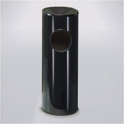 Rubbermaid Commercial Products Black Steel Ash/Trash Receptacle