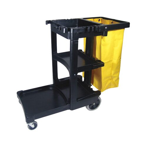 """Rubbermaid Commercial Products 38.25"""" Multi-Shelf Cleaning Cart"""