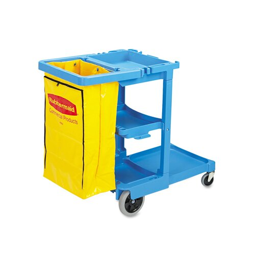 "Rubbermaid Commercial Products 38.38"" Multi-Shelf Cleaning Cart"