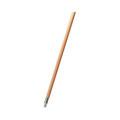 Rubbermaid Commercial Products Lacquered Wood Broom Handle with Metal Thread