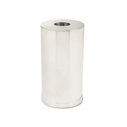Rubbermaid Commercial Products European Metallic Drop-In Stainless Steel Top Receptacle