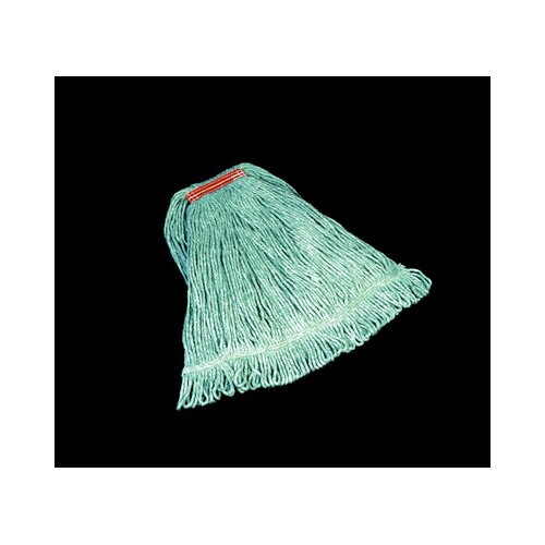 Rubbermaid Commercial Products Super Stitch Blend Cotton/Synthetic Mop Heads in Green