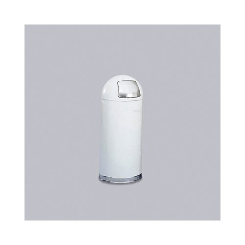 Rubbermaid Commercial Products Fire-Resistant Steel Dome Receptacle in White