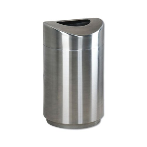Rubbermaid Commercial Products Eclipse Open Stainless Steel Top Waste Receptacle