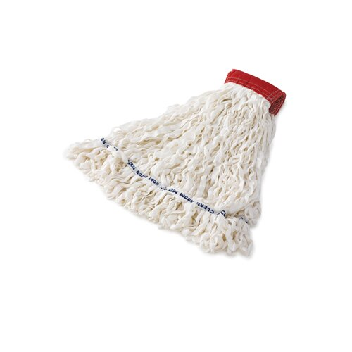Rubbermaid Commercial Products Clean Room Medium Rayon Mop Heads with Looped-End in White