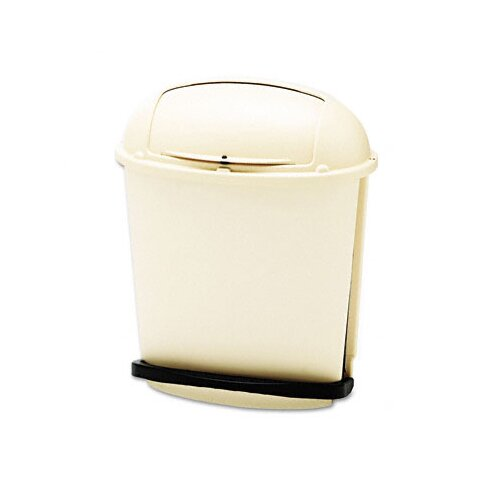 Rubbermaid Commercial Products Fire-Safe Pedal Rolltop Oval Receptacle