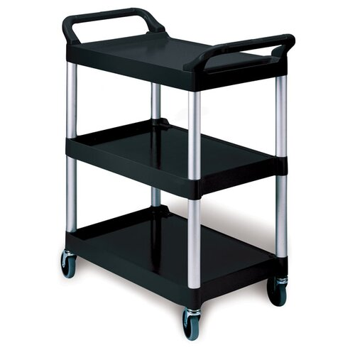 Rubbermaid Commercial Products 3-Shelf Service Cart in Red