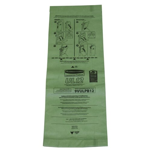 Rubbermaid Commercial Products Paper Vacuum Bag for Rubbermaid Commercial Light Upright Vacuum