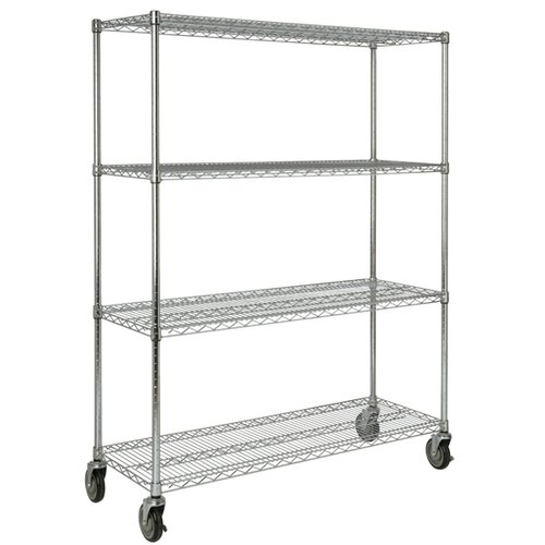 "Rubbermaid Commercial Products 67.2"" H 4 Shelf Shelving Unit Mobile"